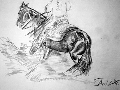 Drawing - Legends Sale Horse by Jim  Arnold