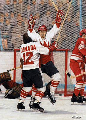 Canadian Heritage Mixed Media - Legends Series Goal Of The Century 8x10 by Daniel Parry