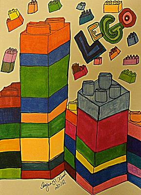 Lego Drawing - Lego Fun by Shayna  Keach