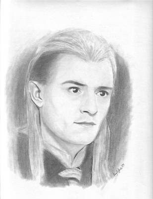 Orlando Bloom Drawing - Legolas by Amy Jones