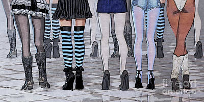 Shoe Digital Art - Legs by Jutta Maria Pusl