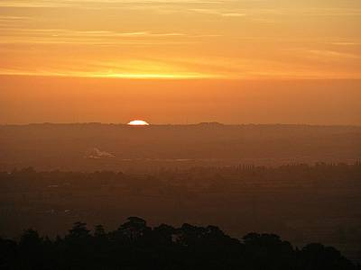 Leicestershire Sunrise Art Print by Linsey Williams