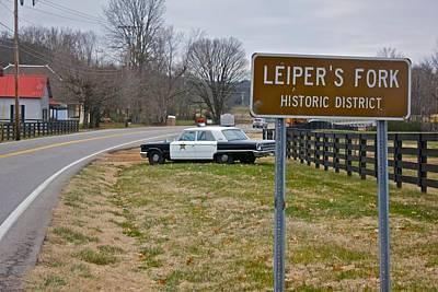 Leipers Fork Photograph - Leiper's Fork Tenn. Police Car by Bob Hasbrook