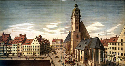 Leipzig: St. Thomas Church Print by Granger