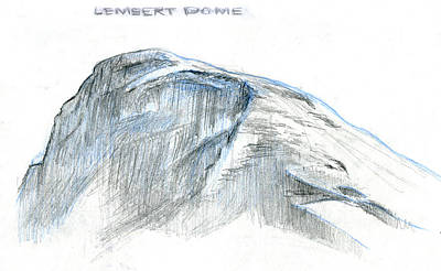 Mountains Drawing - Lembert Dome At Noon by Logan Parsons