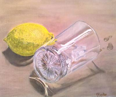 Lemon Drops Painting - Lemon Drops by Parrish Payton