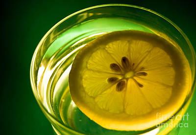 Lemon In The Glass Of Water Art Print