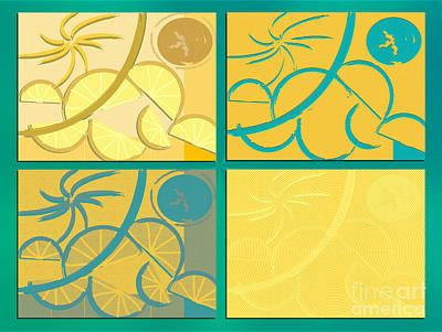 Digital Art - Lemon Sun And Moon by Michelle Bergersen