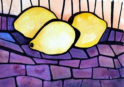 Painting - Lemon Trio by Pamela Lee