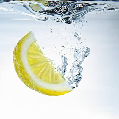 Lemon Water Art Print by Silvio Schoisswohl
