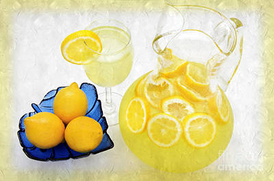 Lemon Mixed Media - Lemonade And Summertime by Andee Design