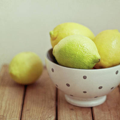 Lemon Photograph - Lemons In Bowl by Copyright Anna Nemoy(Xaomena)