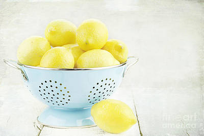 Photograph - Lemons In Retro by Stephanie Frey