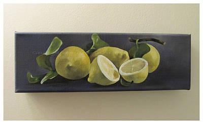 Painting - Lemons by Natasha Denger