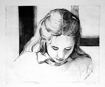 Drypoint Drawing - Lena by Gun Legler