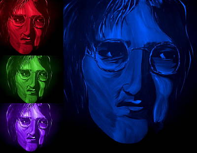 Lennon Painting - Lennon The Legend by Mark Moore