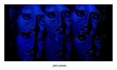 Lennon Digital Art - Lennon's World by Mark Moore