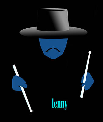 Digital Art - Lenny Blue by Victor Bailey