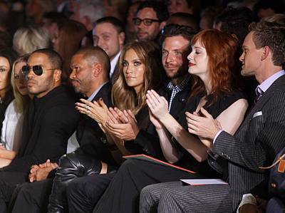 Mercedes-benz Fashion Week Show Photograph - Lenny Kravitz, Jennifer Lopez, Bradley by Everett