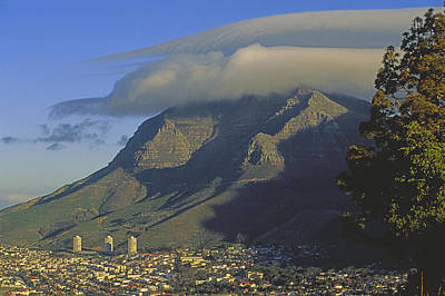 Lenticular Cloud Over Table Mountain Art Print by Gordon Wiltsie