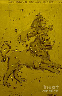 Leo Major And Leo Minor, 19th Century Art Print by Science Source