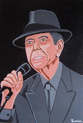 Leonard Cohen Art Print by Eamon Reilly