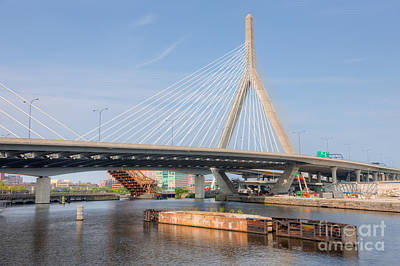 Photograph - Leonard P. Zakim Bunker Hill Bridge II by Clarence Holmes