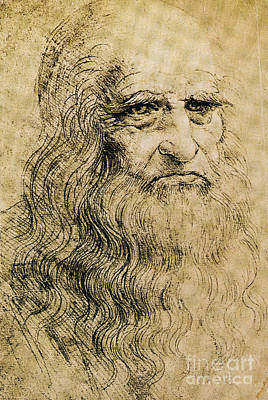 Self-portrait Photograph - Leonardo Da Vinci  by Science Source