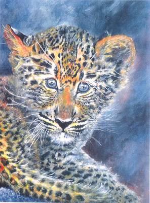 Leopard Cub Original by Cecilia Putter