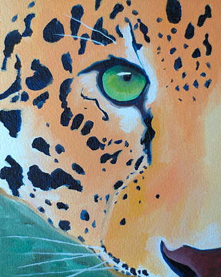 Leopard Eye Art Print by John  Sweeney
