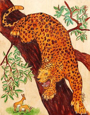 Leopard Art Print by Mike Holder