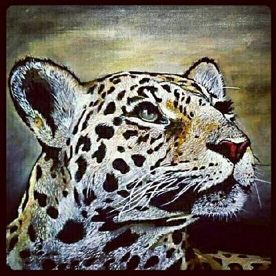 Acrylic Wall Art - Photograph - Leopard Painting I Did 16 × 20 Acrylic by Kyle StCroix