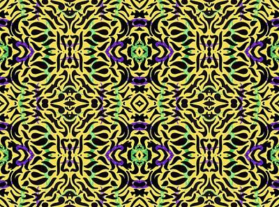 Kitsch Digital Art - Leopard Print Art by Sumit Mehndiratta