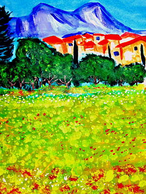 Les Alpilles Original by Rusty Woodward Gladdish