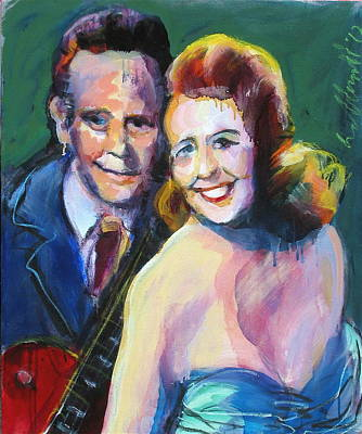 Painting - Les And Mary by Les Leffingwell