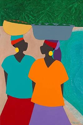 Wall Art - Painting - Les Femmes by Synthia SAINT JAMES