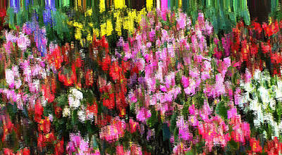 Art Print featuring the mixed media Les Fleurs by Terence Morrissey