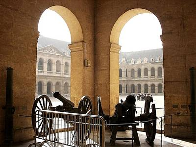 Photograph - Les Invalides Canons by Keith Stokes