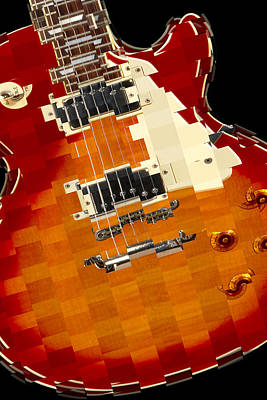 Colorful Art Digital Art - Classic Guitar Abstract by Mike McGlothlen