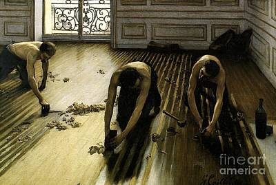 Painting - Les Raboteurs by Pg Reproductions