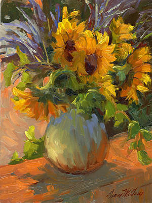 Painting - Les Tournesols by Diane McClary