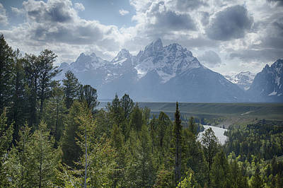Photograph - Les Trois Tetons by Jack R Perry