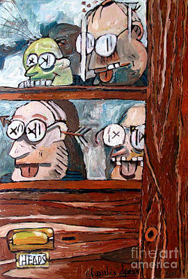 Less Than Famous Heads Room Smithsonian Original by Charlie Spear