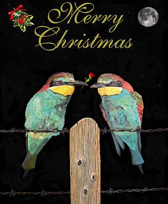 Lesvos Christmas Birds Art Print by Eric Kempson