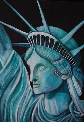 Let Freedom Ring Art Print by Janna Columbus