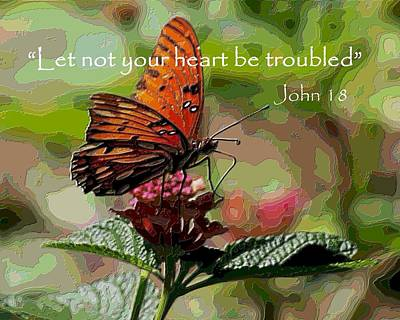 Digital Art - Let Not Your Heart Be Troubled by Carrie OBrien Sibley