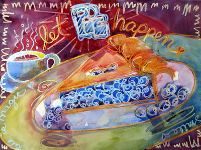 Blueberry Mixed Media - Let Pie Happen by Chere Force