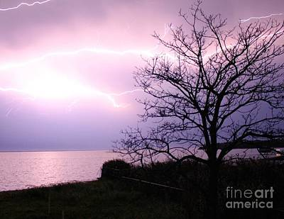 Photograph - Let There Be Light-ning by Scenesational Photos
