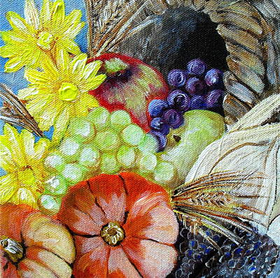 Let Us Give Thanks Art Print by Melissa Torres