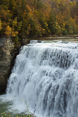 Letchworth Middle Falls Art Print by Darleen Stry